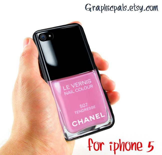 Inspired Chanel Nail Polish Pink Girly iPhone 5 by Graphicpals ...