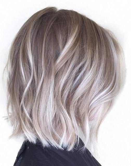 Silver Gray Ombre Hair Color Ideas For Short Hair Managed To