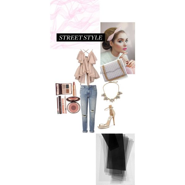 A fashion look from November 2014 featuring Jean-Paul Gaultier tops, Whistles jeans and Michael Kors sandals. Browse and shop related looks.