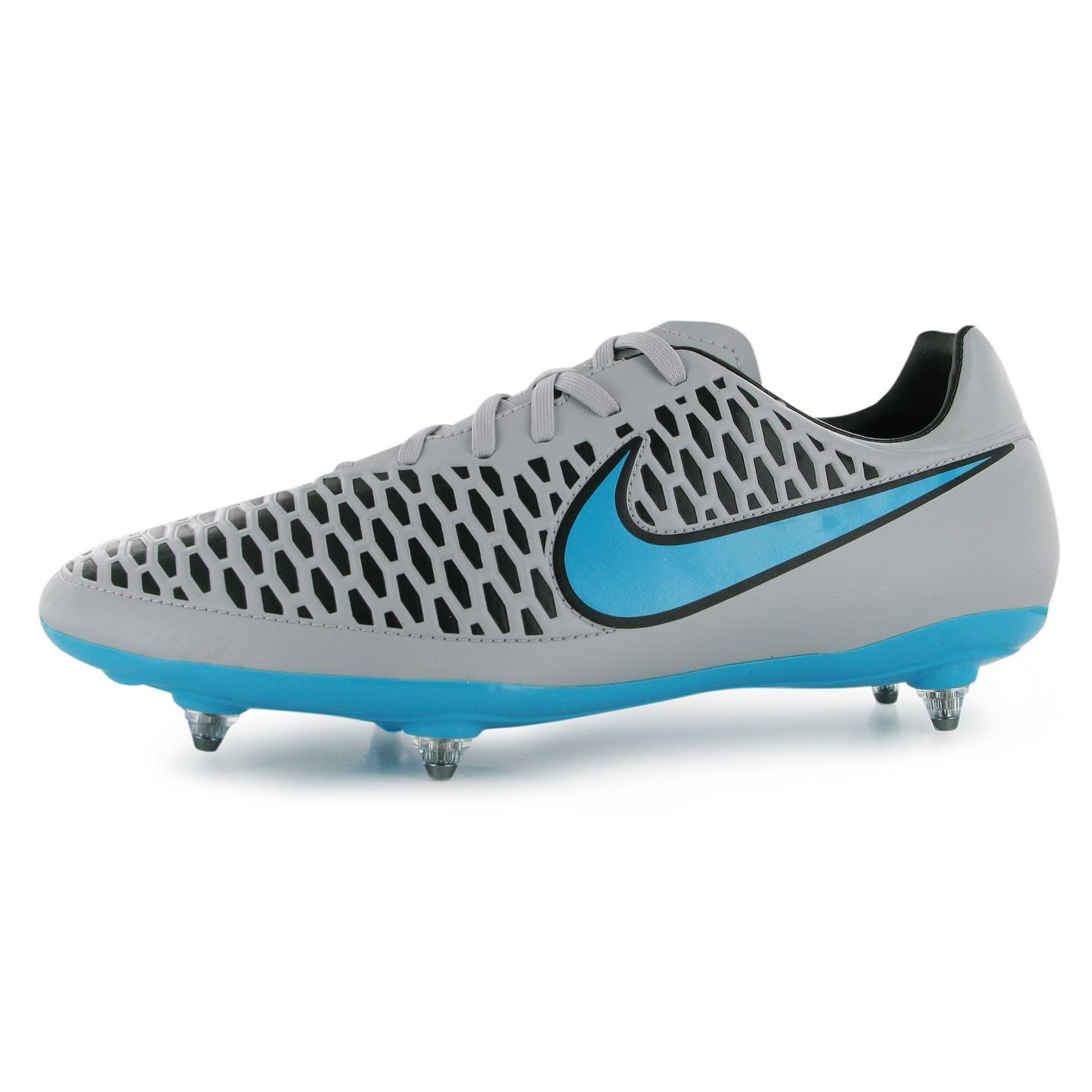 magista football boots grey and blue metal studs - Google Search