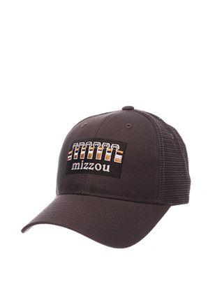 58384d1f10e Zephyr Missouri Tigers Mens Grey Landmark Adjustable Hat