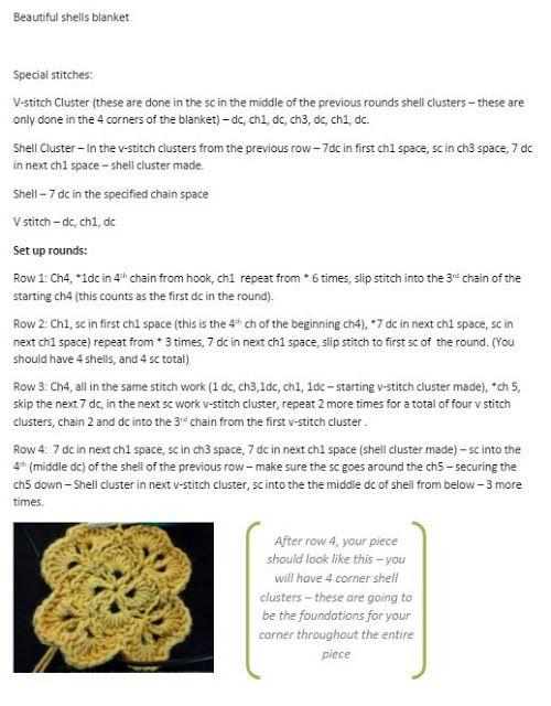 Crochet and Knitting: Shell Stitch Baby Blanket – Free Pattern ...