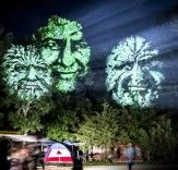 Gigantic Leafy Faces Light Up a Forest in Wisconsin http://bit.ly/1BdOhzE