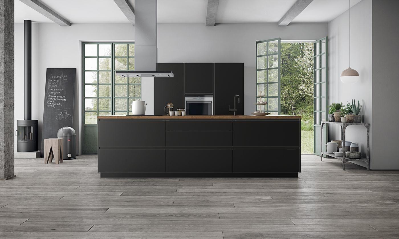 Tinta noire de kvik kitchen kitchen corner