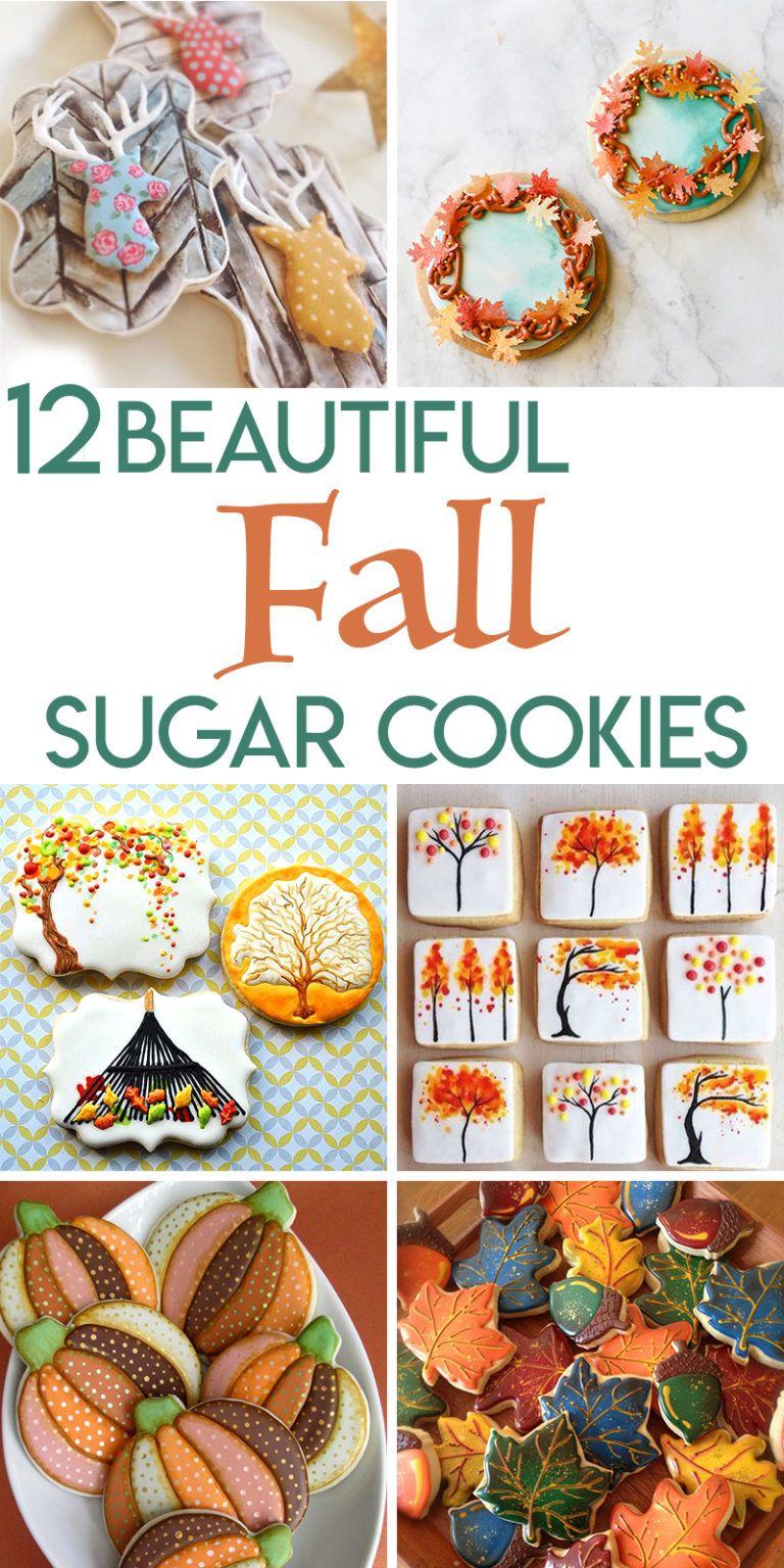 11 Beautiful Fall Sugar Cookies | Random Acts of Baking #halloweensugarcookies