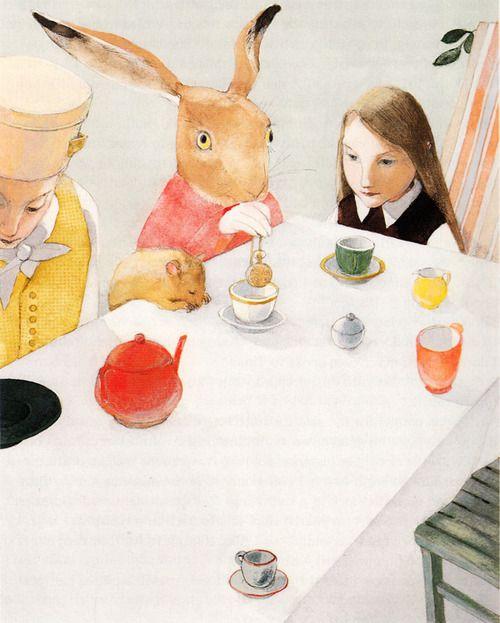 Lisbeth Zwerger illustrates Alice in Wonderland