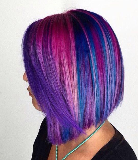 Multi Colored Bob Pretty Hair Color Hair Styles Natural Hair Styles