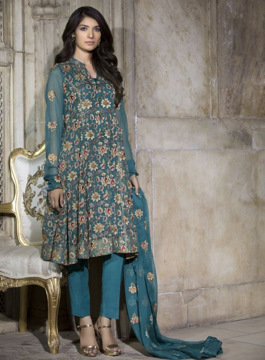 da7cf285257 Bareeze Embroidered Chiffon Self Mughal Brocade Festive Eid Dress ...