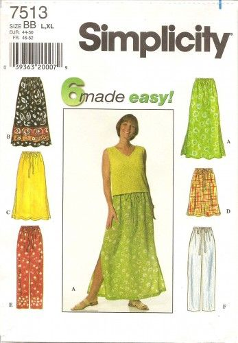 Misses Skirts Sewing Patterns Sold Individually Multi Size /& Style Options