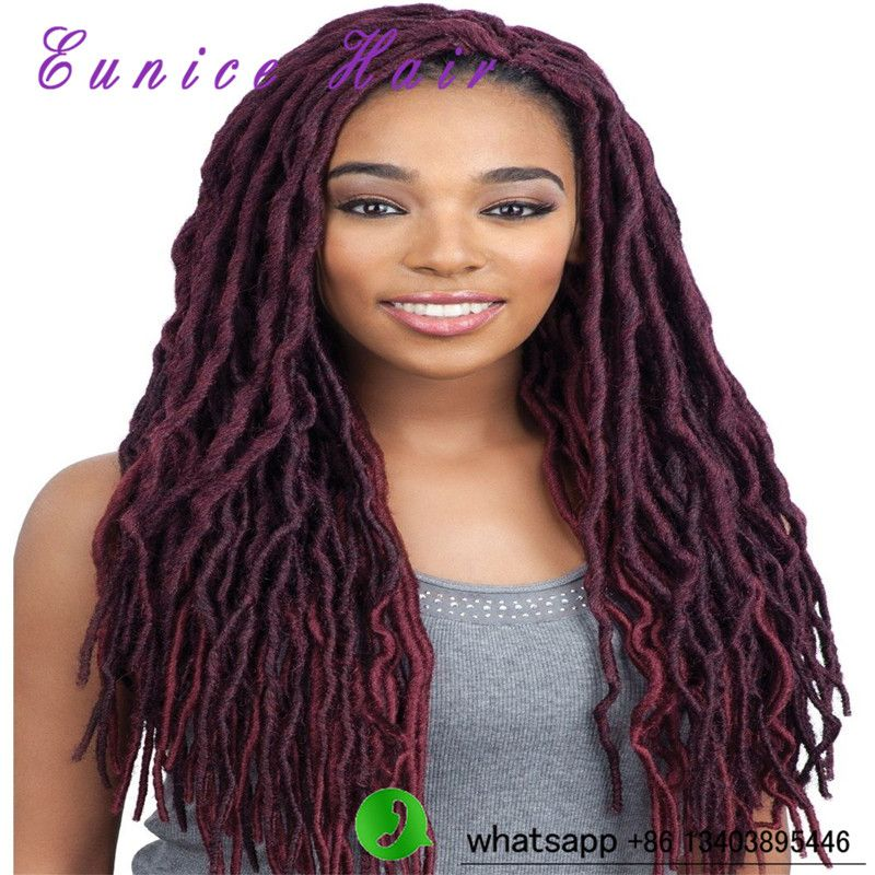 "14"" Faux Locs Braid Hair Synthetic Crochet Braid Hair"