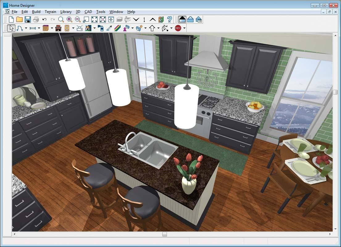 Home Design Free Online 3d Room Design For A Small Kitchen With