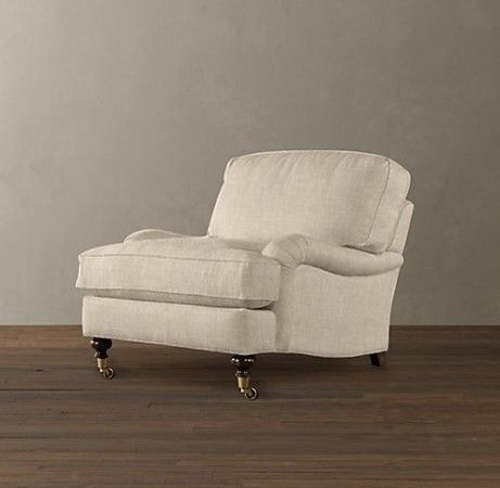 English Roll Arm Upholstered Chairs   Traditional   Chairs     By  Restoration Hardware