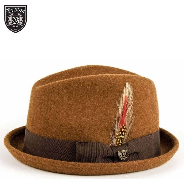 3ce55c55 Brixton Gain Felt Trilby Hat - Camel ($61) ❤ liked on Polyvore ...
