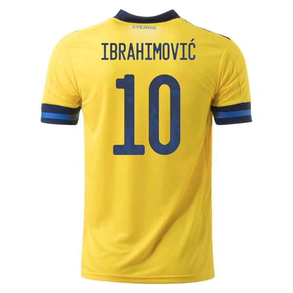 Zlatan Ibrahimovic Sweden Euro 2020 Home Jersey By Adidas World Soccer Shop Zlatan Ibrahimovic Soccer Shirts Soccer Jersey