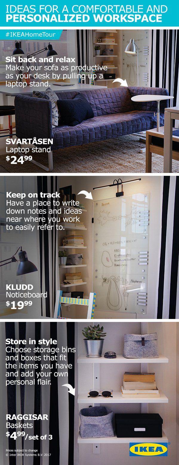 workspace decor ideas home comfortable home. Ideas For A Comfortable And Personalized Workspace From The IKEA Home Tour Squad. Things Like Decor