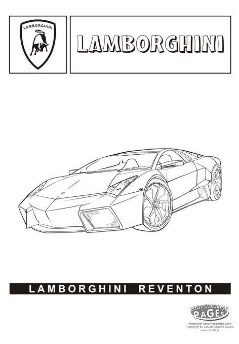 Lambhini Reventon Cars coloring