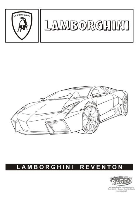 lamborghini reventon cars coloring pages