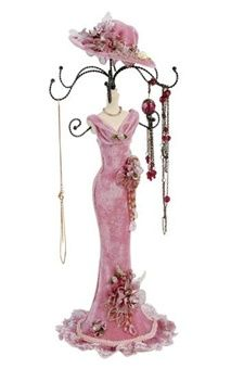 Jewelry Holder For Necklaces Earrings Bracelets Victorian Dress Jewelry Holder Jewelry Holder Stand Victorian Jewelry