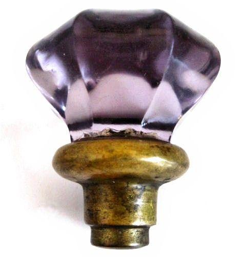 vintage purple glass door knob ©retrovertigovintage.com | retro ...