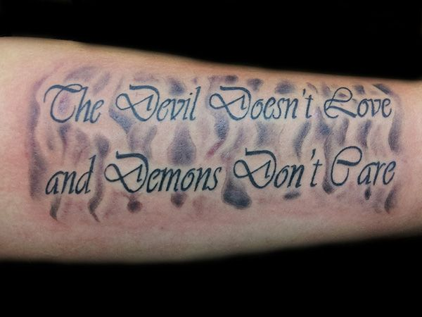The Devil doesn\'t love and Demons don\'t care | RAND0MS | Tattoo ...