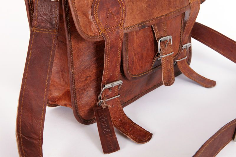 Leather Satchel (small) - Leather Satchels, Weekend Bags, Duffel, Holdalls & Messenger Bags - Lorton & Horn