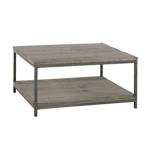 Table basse en bois recyclé et métal Jardin d\'Ulysse | For the Home ...