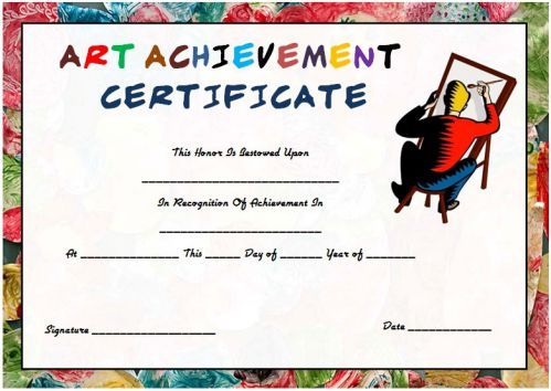 Art achievement certificate template art certificate templates art achievement certificate template art certificate templates pinterest certificate and template yadclub Choice Image