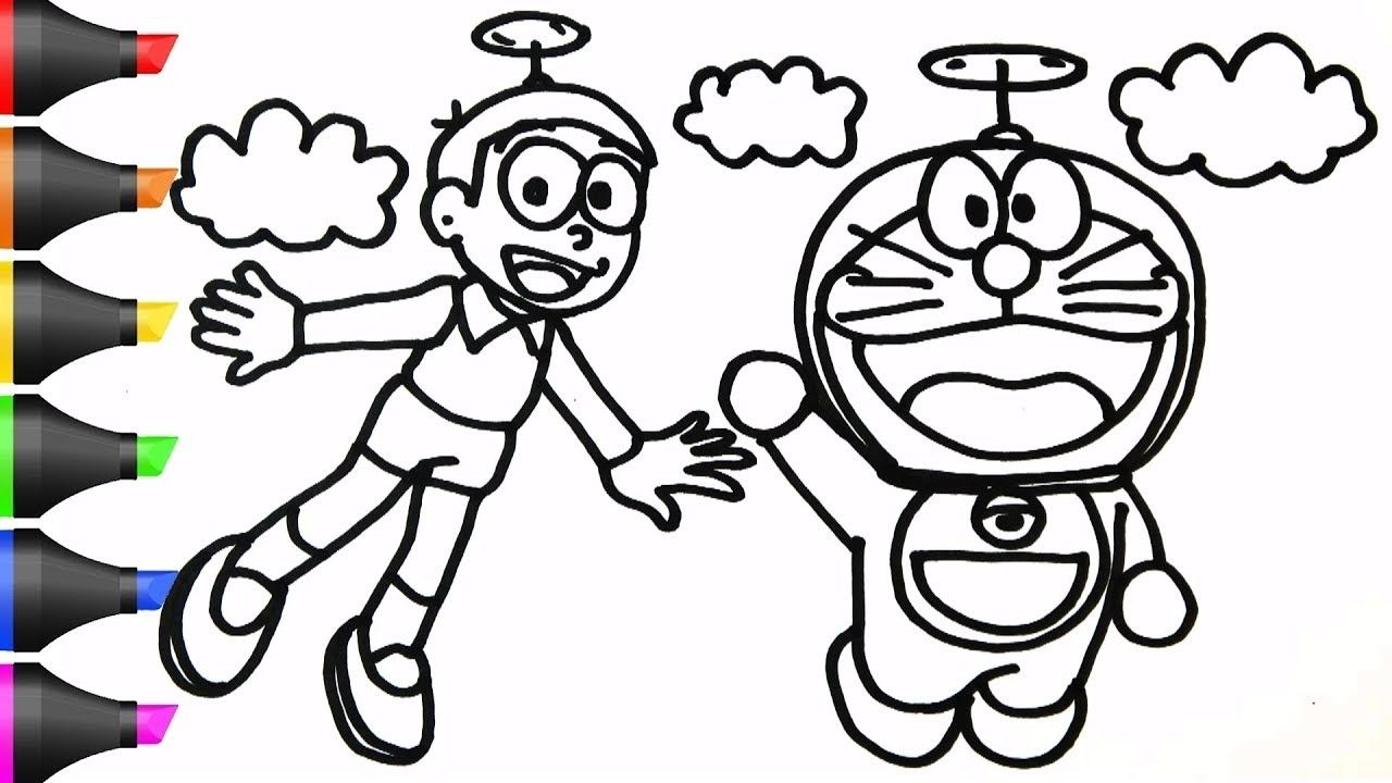 Doraemon Nobita Coloring Coloring Pages Allow Kids To Accompany Their Favorite Characters On An Ad Unicorn Coloring Pages Coloring Pages Love Coloring Pages