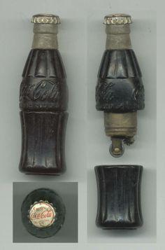 Collectable vintage Coca Cola can lighter-