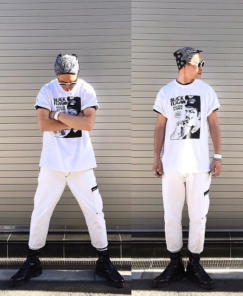 #street #punk #rock #alternative #avantgarde #edgy #modern #casual #streetstyle #streetfashion #punkstyle #rockstyle #white #blackandwhite #mensstyle #mensfashion #japanese