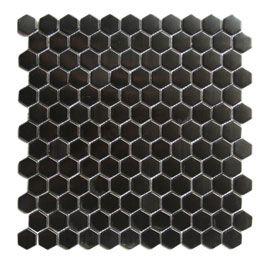 Mosaique Kosuke Noir 30 5 X 30 5 Cm Castorama Mosaique Carrelage Mosaique