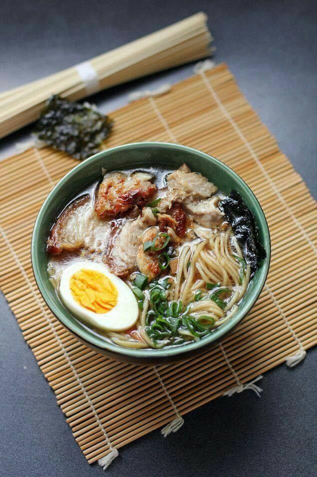 tadakimasu Pork ramen noodle soup broth miso Asian main
