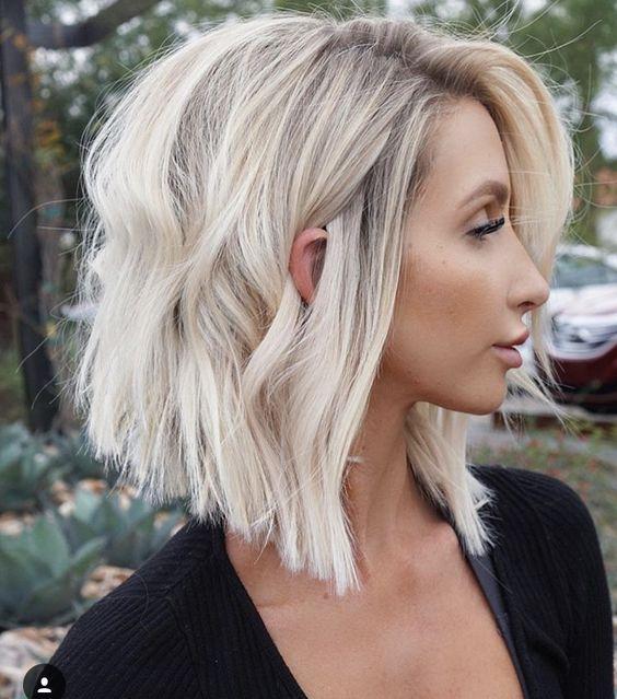 A Line Bob Haircut For Thick Hair Thick Hair Styles Lob Haircut Hair Styles