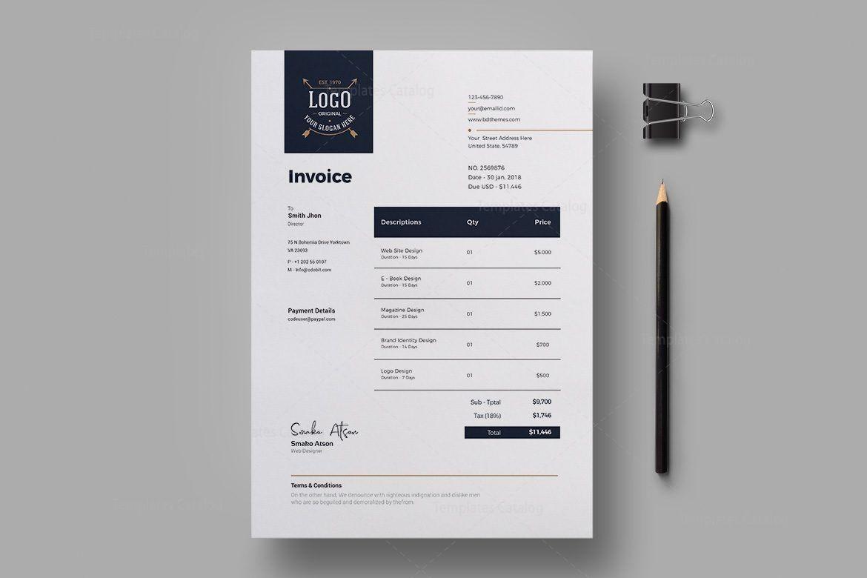 Luxury Corporate Invoice Design Template 002304 Template Catalog Invoice Design Invoice Design Template Brochure Design Layouts