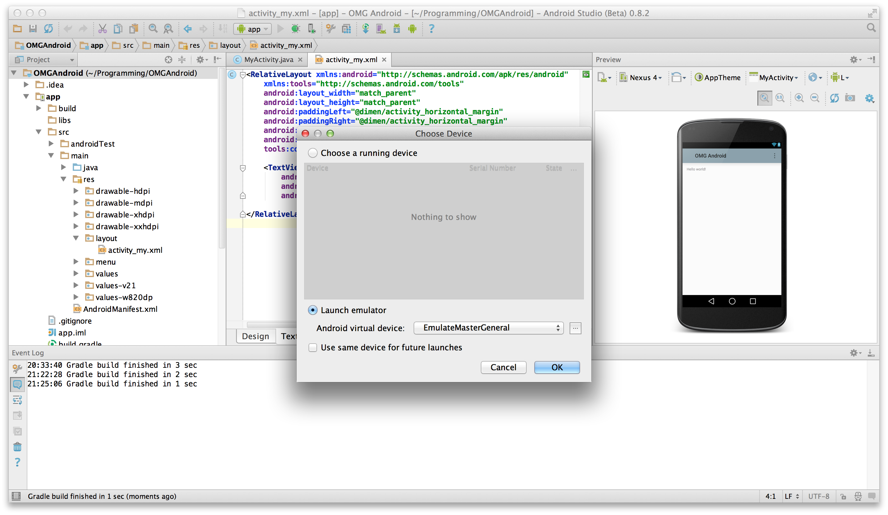 Beginning android tutorial with android studio programmer beginning android tutorial with android studio baditri Gallery
