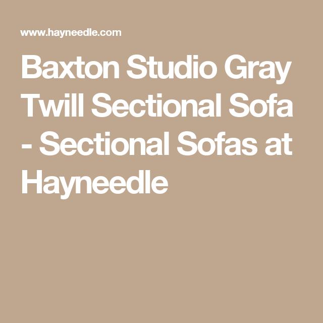 Baxton Studio Gray Twill Sectional Sofa   Sectional Sofas At Hayneedle