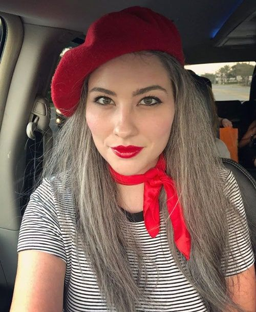 What Colors Look Best with Gray Hair?   Transition to gray ...