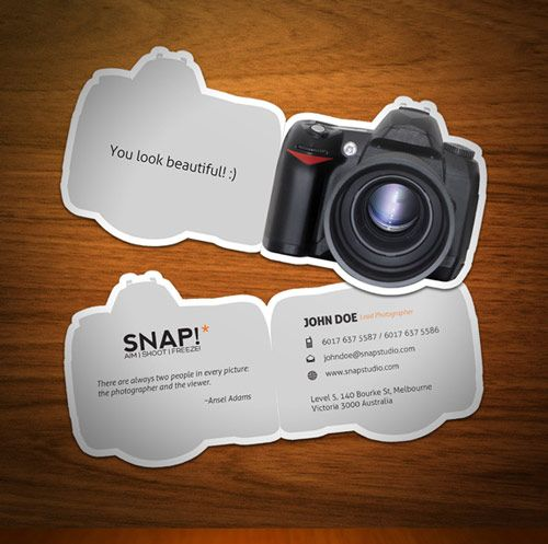 33 Photography Business Card Inspirations