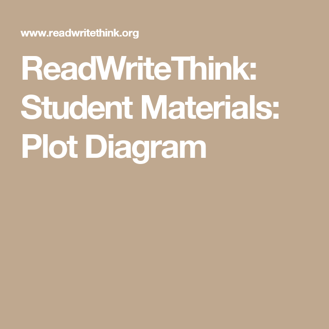 Readwritethink Student Materials Plot Diagram Art Projects
