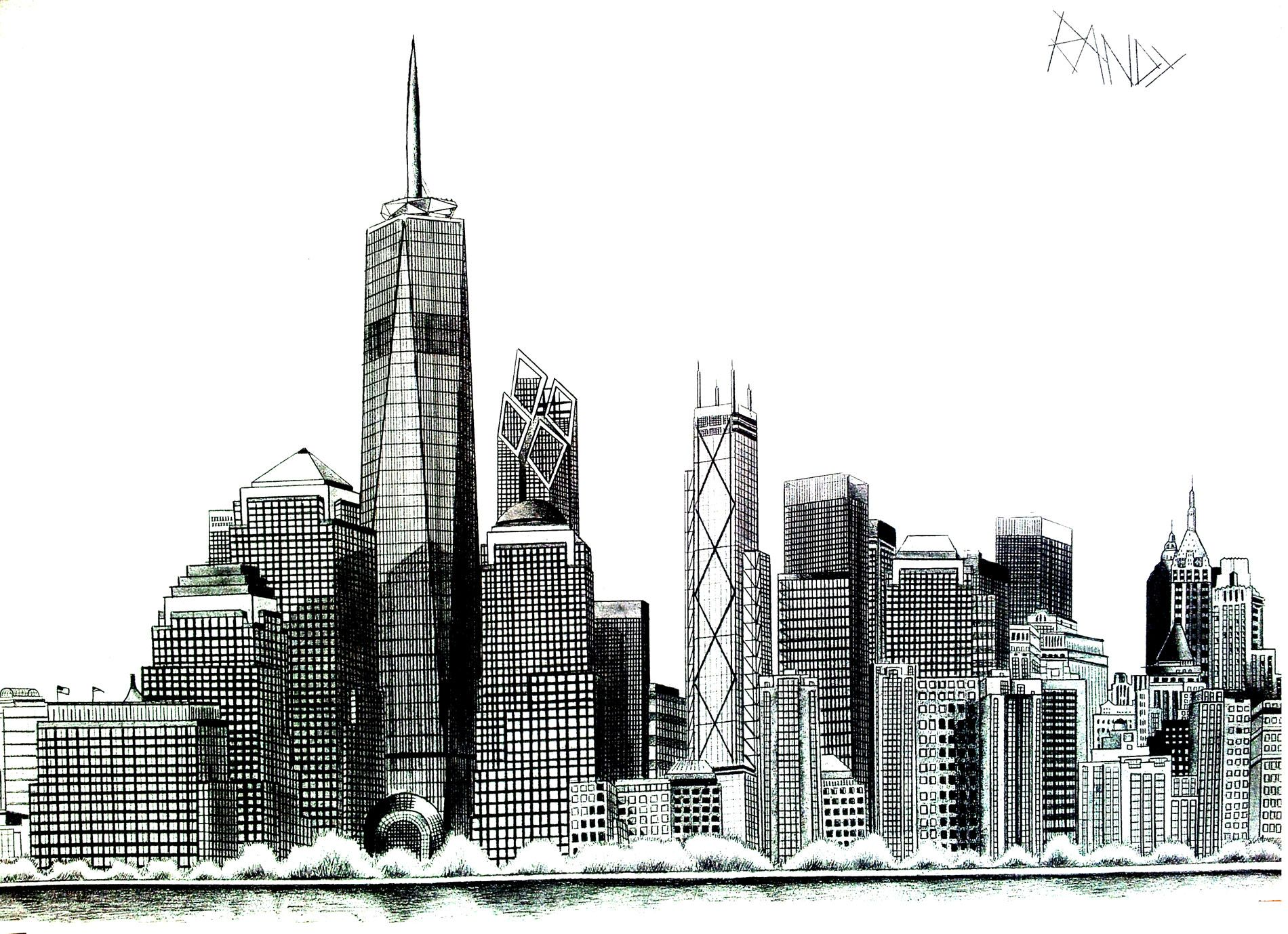 Coloriage Gratuit New York.Free Coloring Page Coloring New York Liberty Tower Drawing