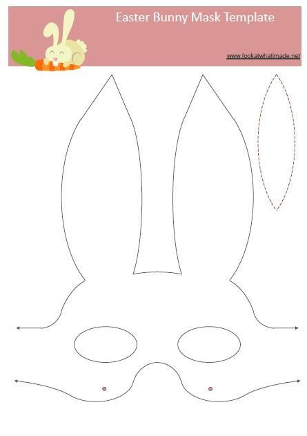 Easter Bunny Mask Add Cotton Balls Easter Templates Bunny Mask