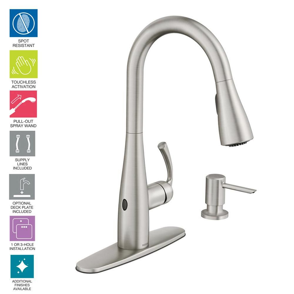 MOEN Essie Touchless Single-Handle Pull-down Sprayer Kitchen ...