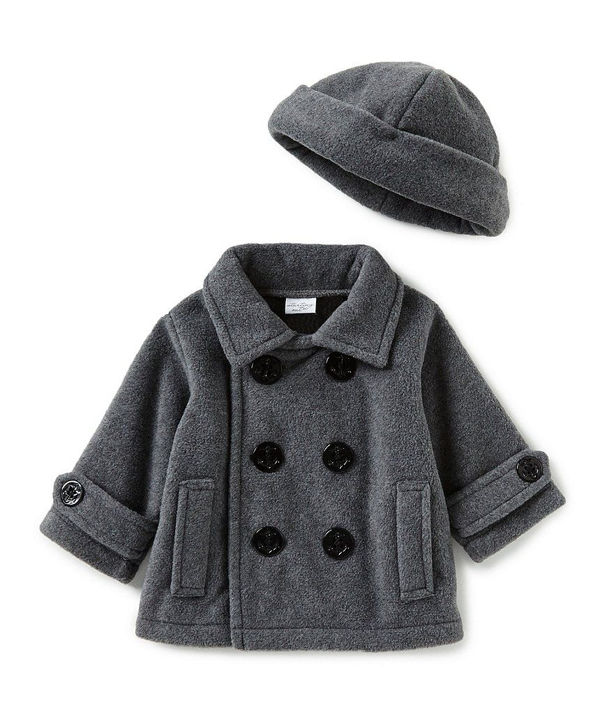 8ba8d348c80f Starting Out Baby Boys 3-24 Months Fleece Double Breasted Peacoat ...