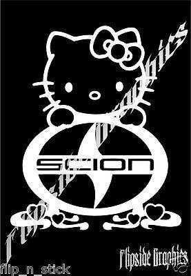 DECAL SCION HELLO KITTY CUSTOM GRAPHICS WINDOW CAR TRUCK VINYL - Hello kitty custom vinyl stickers