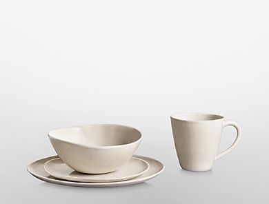 Image for sofia stoneware dinnerware in cream from Calvin Klein & loose luxe and freely formed. a generously proportioned ...