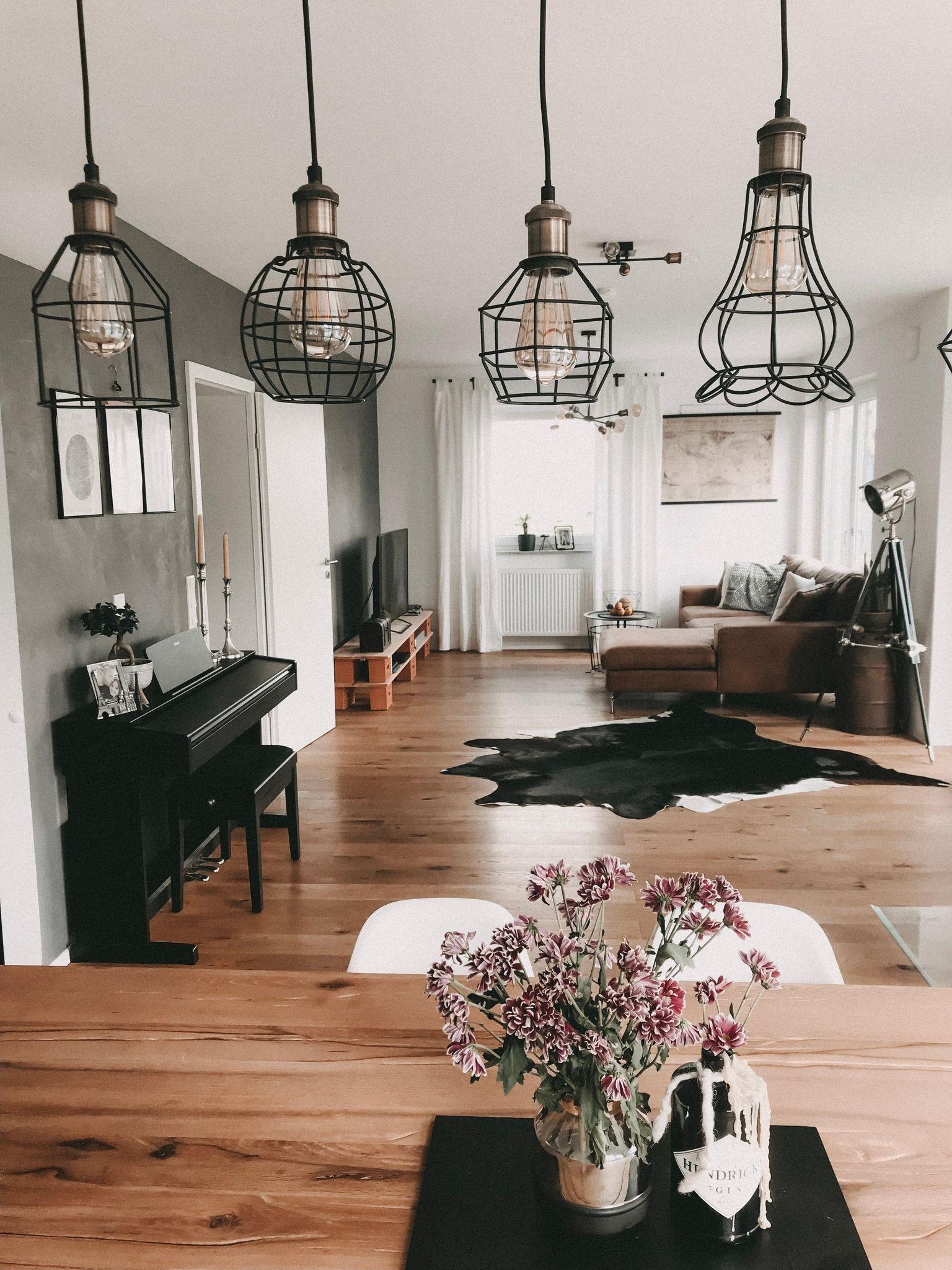 Industrial Interior Livingroom Inspiration Vint Mobel Im