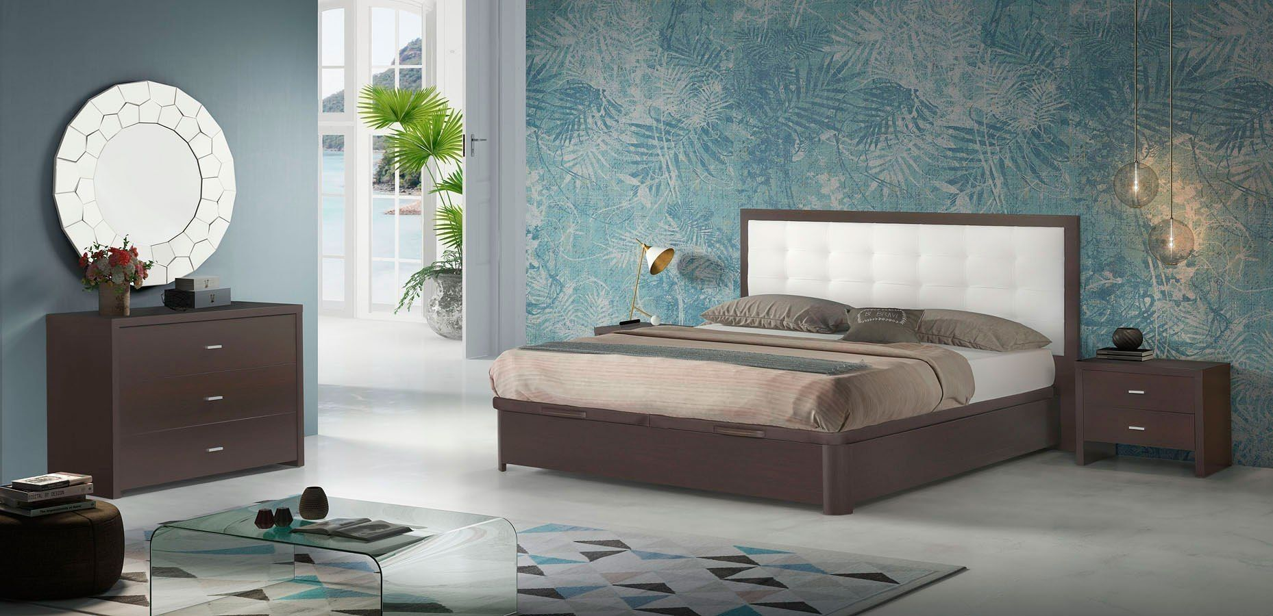 Regina Storage Bedroom Set Italian Bedroom Furniture
