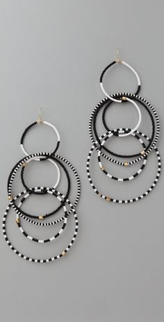 Beaded Brickstich Hoop Earrings Multi Would Be Easy To