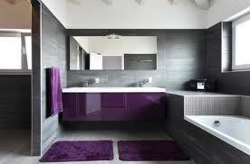 Salle de bain ton gris prune | Idée D&co Brico | Salle de Bain ...