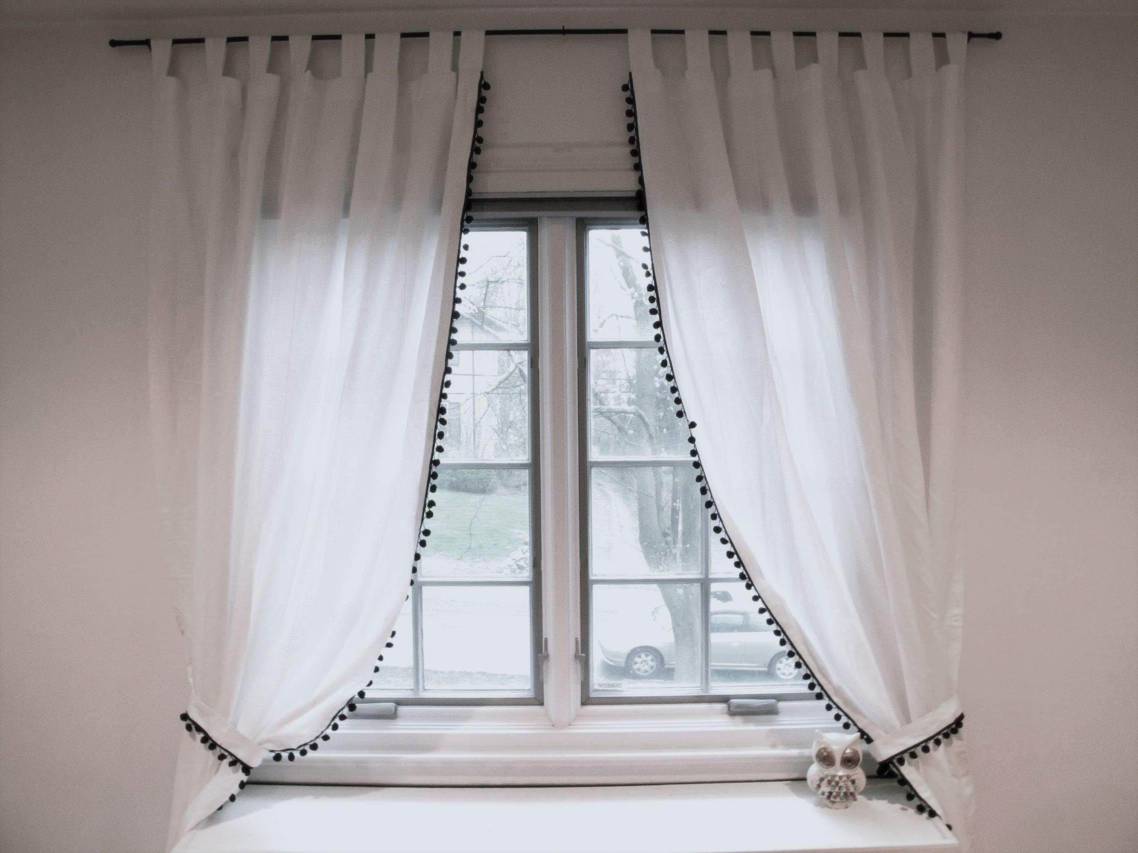 elliptical curtain curtains black white amazing with and ideas for inspiration red design